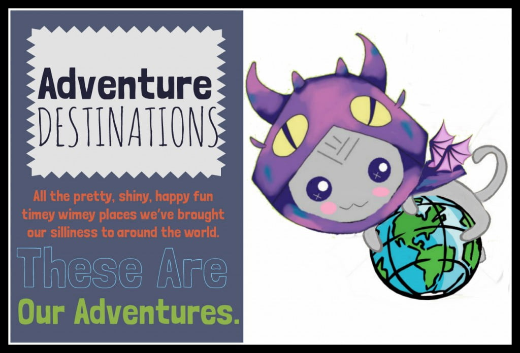 Border Adventure destinations graphic sign alt text