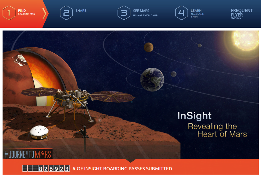 Send Your Name to Mars Register and Find Boarding Pass