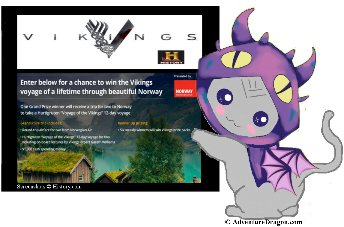 History Channel's Vikings – Win a Viking Voyage to Norway