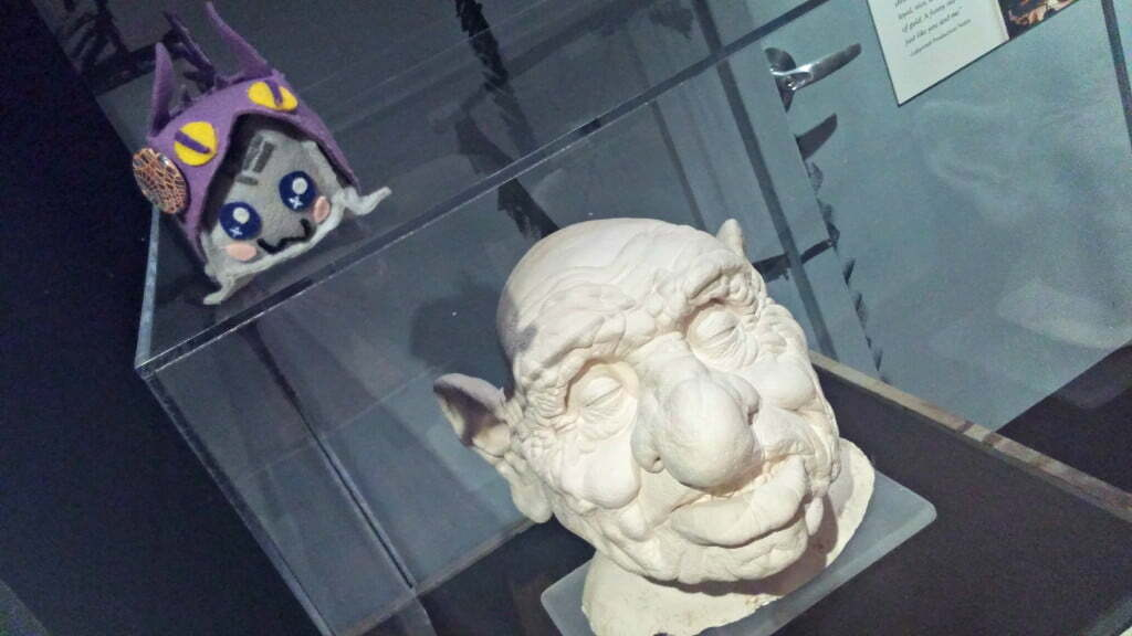 Labyrinth Exhibit Hoggle Plaster Head