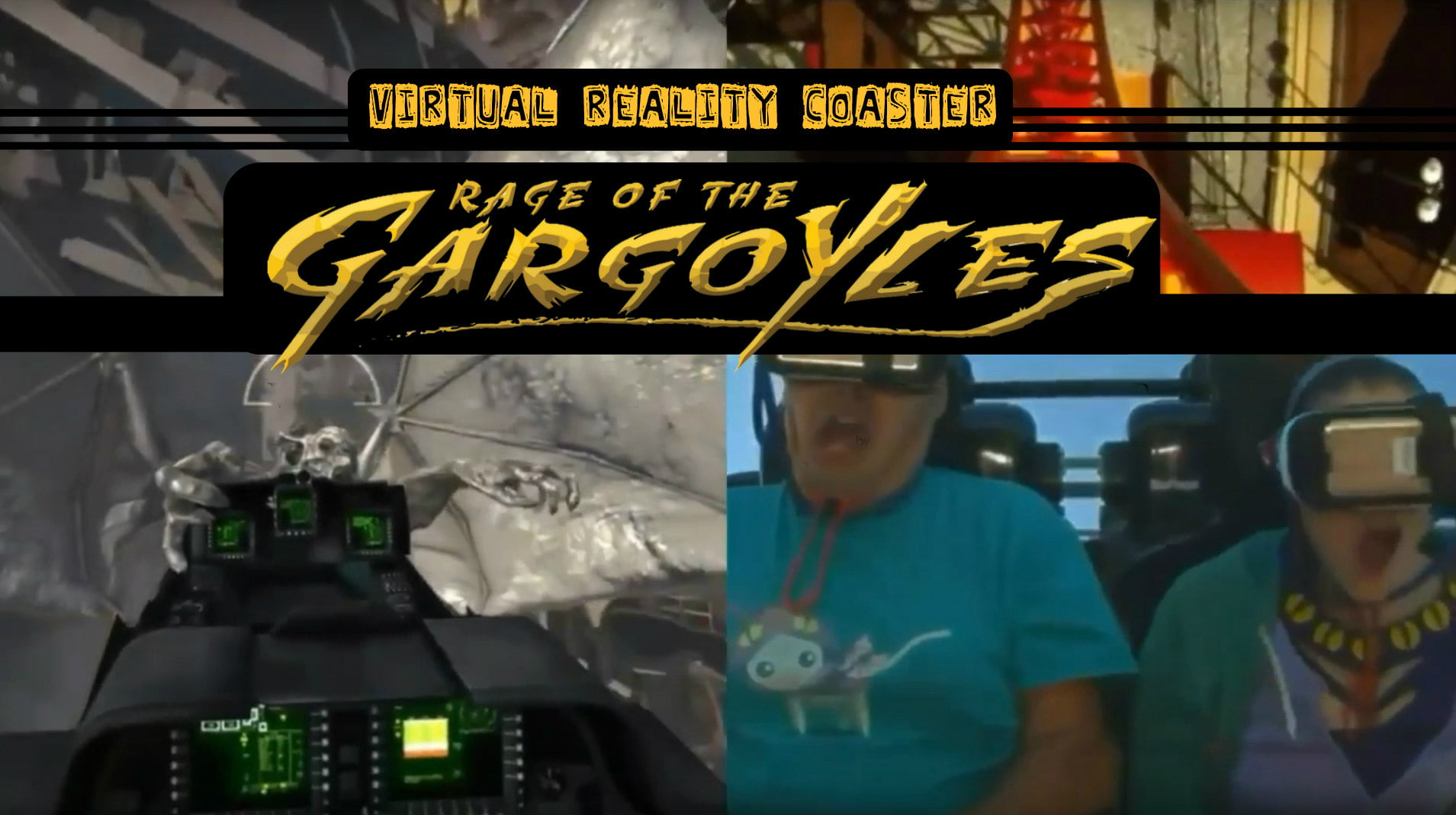 Six Flags Combines Virtual Reality with Real Life Roller Coaster in New Rage of the Gargoyles Ride