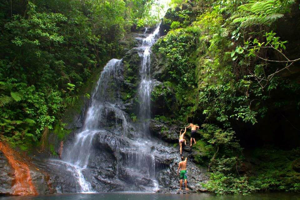 Belize Jungle Waterfall Hike Tiger Fern Double Waterfall Cockscomb Basin Wildlife Sanctuary Jaguar Reserve