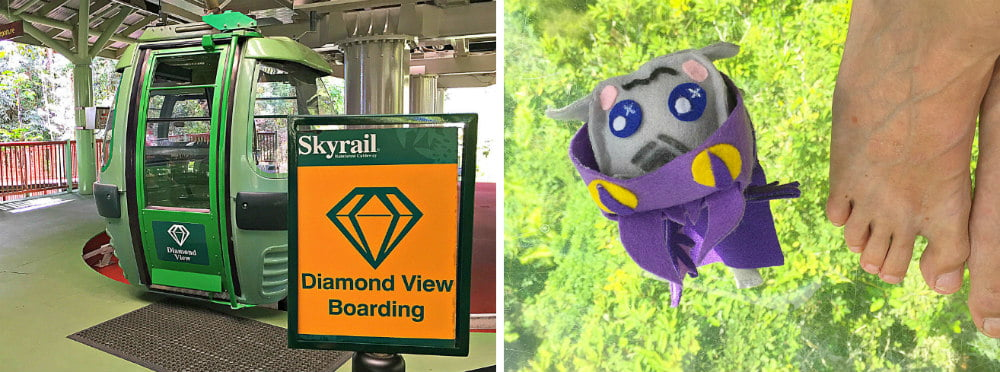 Diamond View Gondola Glass Floor Skyrail Rainforest Cableway