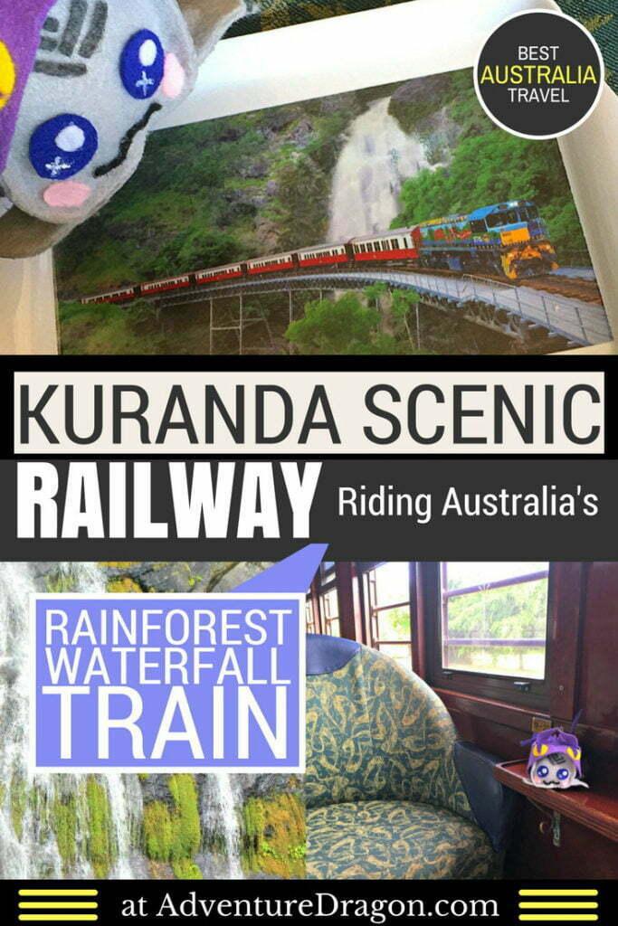 Kuranda scenic railway Australia rainforest waterfall train