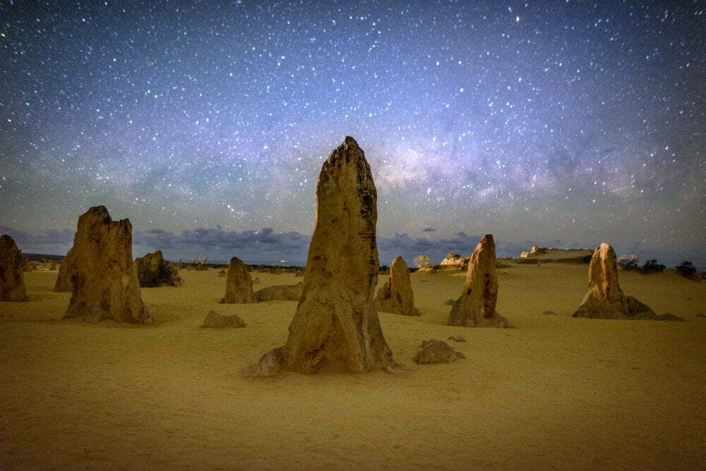 Most Beautiful Places in Australia Photos - Pinnacles of Australia Milky Way over Nambung National Park