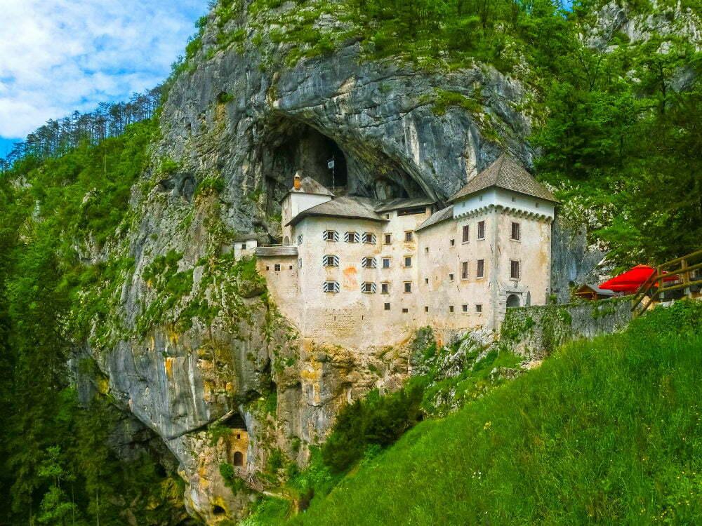 Predjama Castle Predjamski Grad Slovenia Cliff Cave Castle