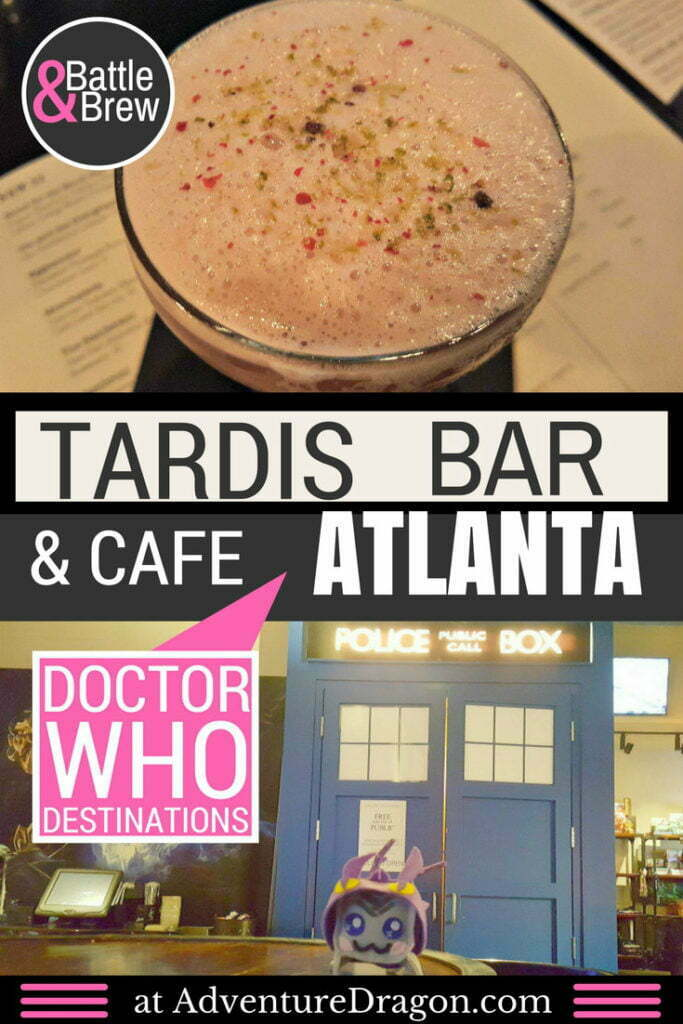 Tardis Bar Doctor Who Cafe Battle and Brew Atlanta gaming bar