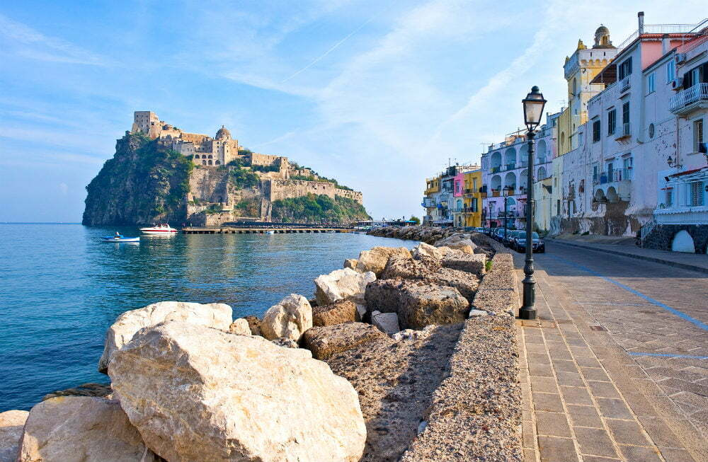Aragonese Castle of Ischia Italy Castles on Cliffs