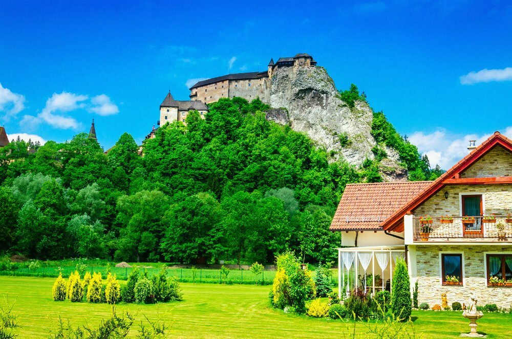 Orava Castle Oravsky Hrad Slovakia Cliff Castle