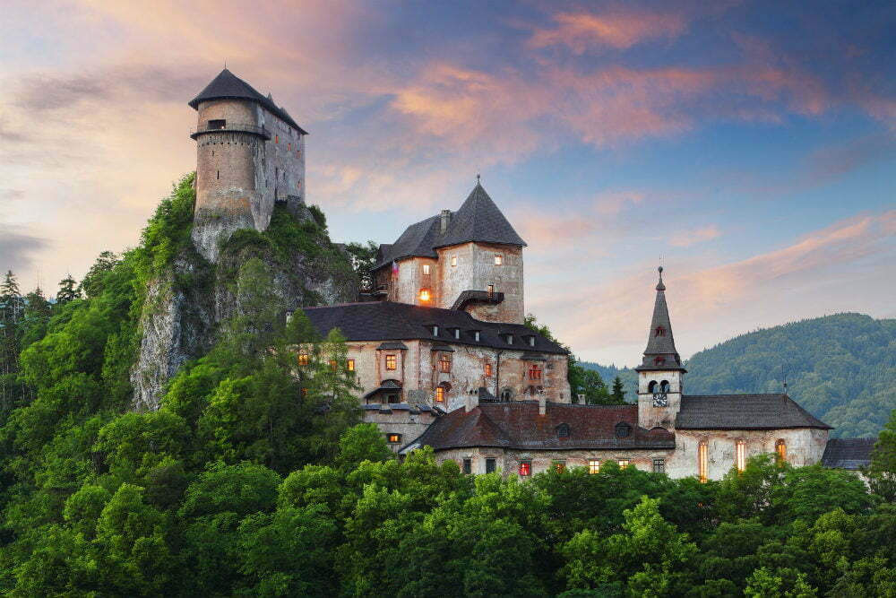 Oravsky Hrad Orava Castle Slovakia Cliff Castles
