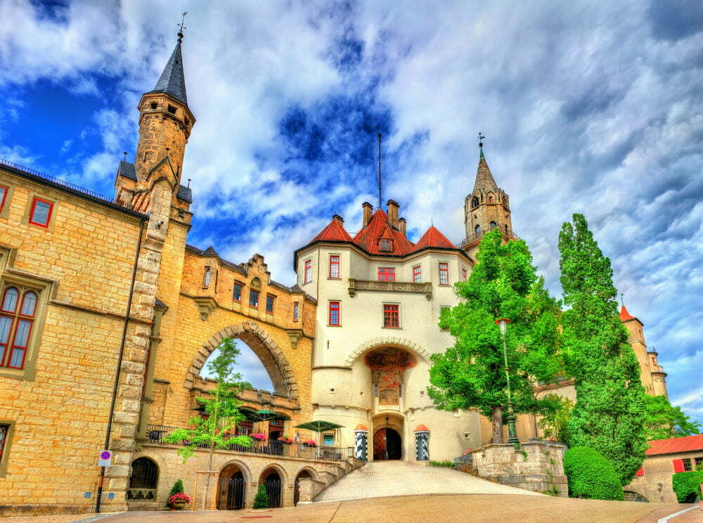Schloss Sigmaringen Castle on Cliff in Germany