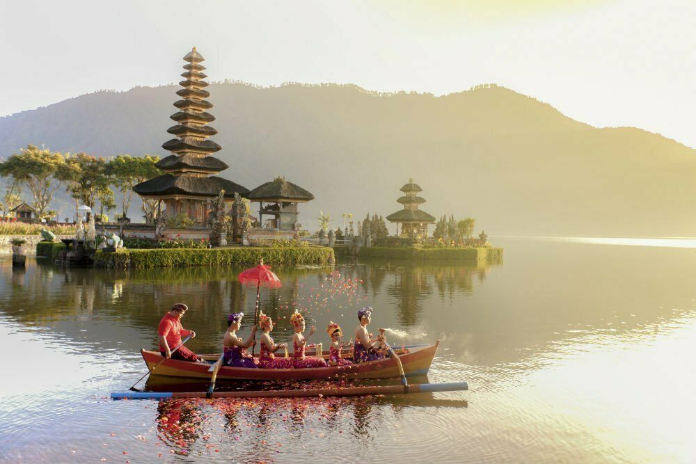 Indonesia Photography - Beautiful Places in Indonesia - Pura Ulun Danu Bratan Temple at Lake Beratan