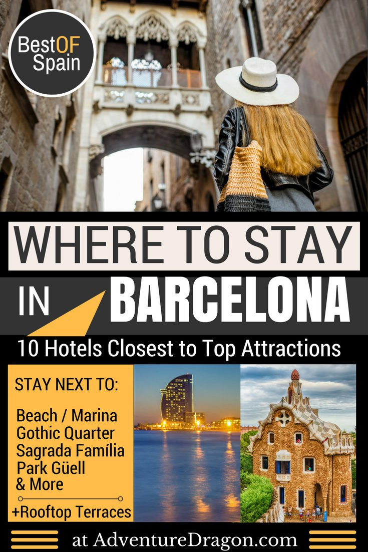 Where to Stay in Barcelona | Best Area to Stay in Barcelona - Hotels Near Sagrada Familia Beach Gothic Quarter