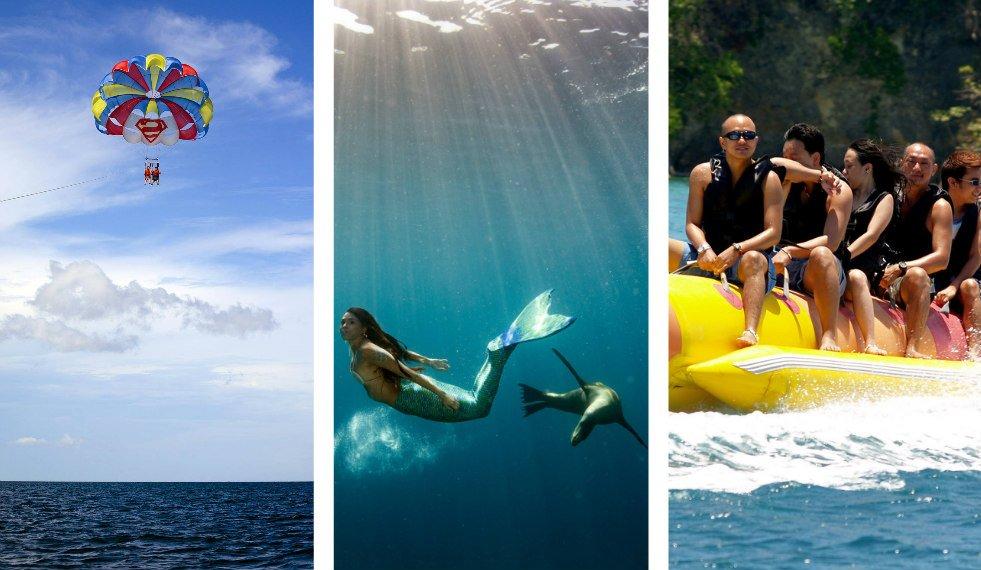 Water Activities in Boracay Mermaiding Parasailing Mermaid Lessons