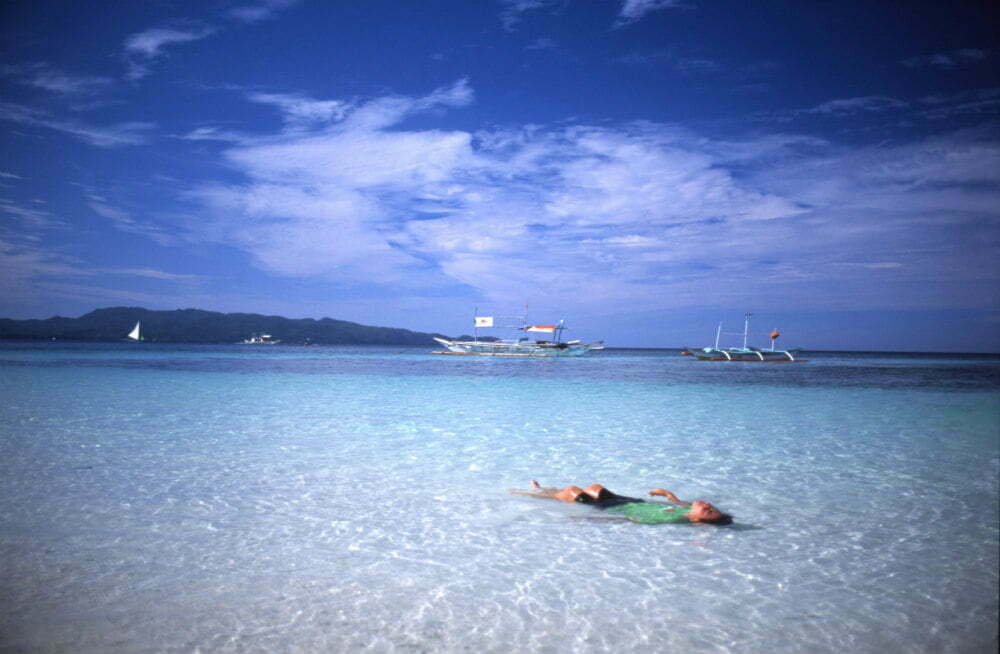Floating on Boracay Beach