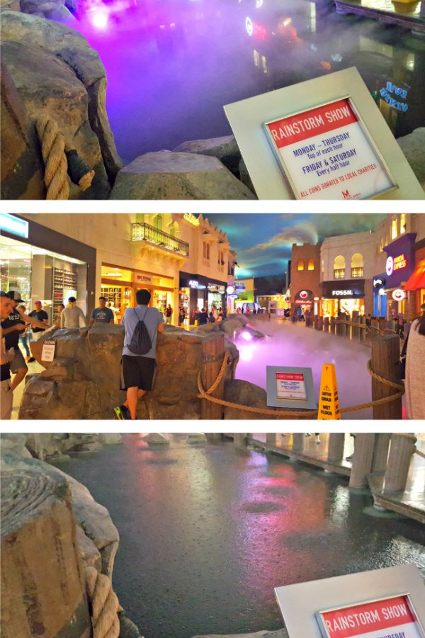 100 Free Things to do in Las Vegas - Indoor Thunderstorm at Miracle Mile Shops