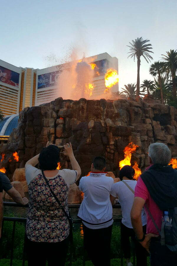 100 Free Things to do in Las Vegas - Watch a Volcano Erupt at the Mirage Hotel