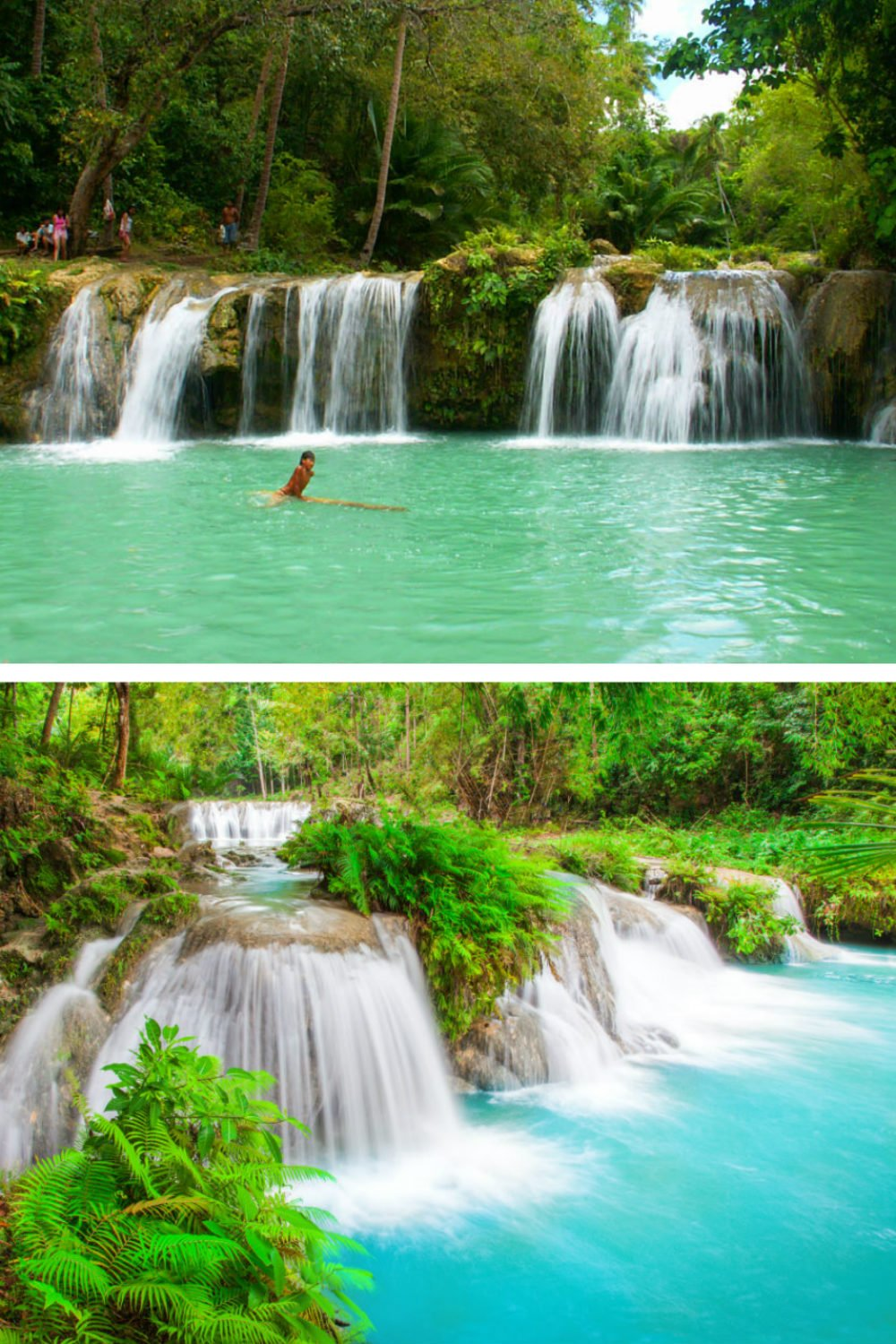 Cambugahay Falls on Siquijor Island - Most Beautiful Places in the Philippines Photos