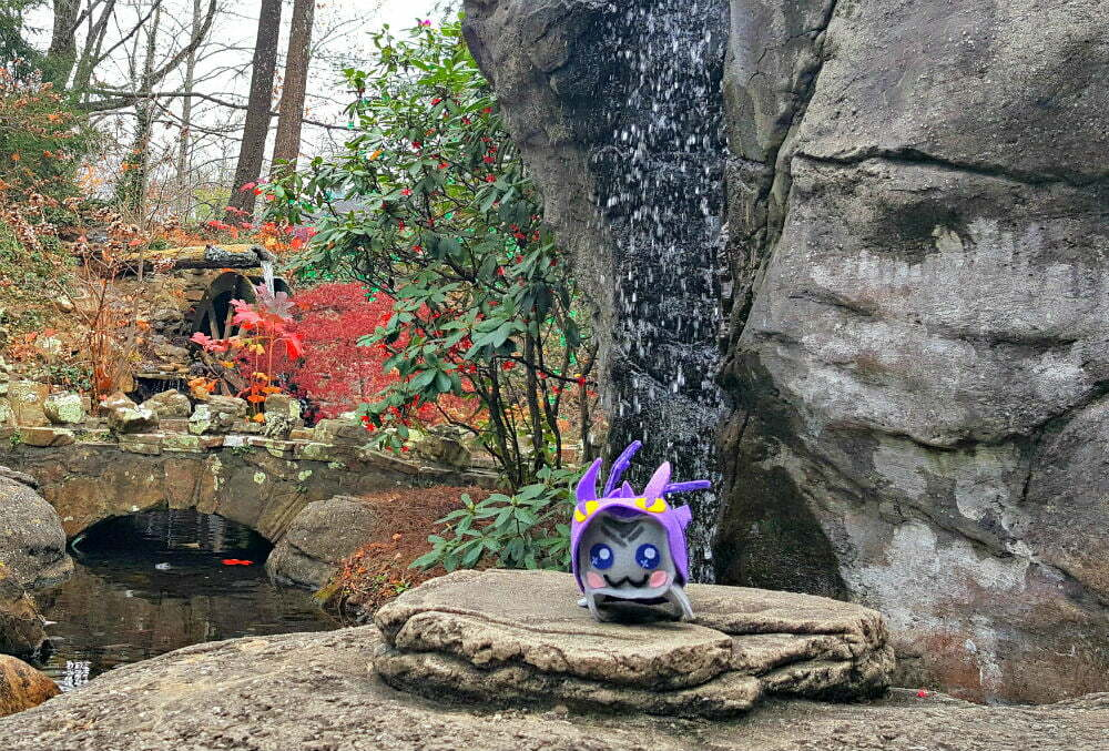 See Rock City Gardens Enchanted Trail Entrance Fall Colors