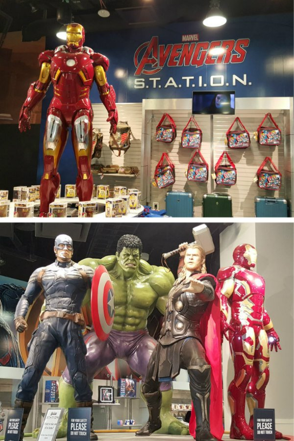 100 Free Things to do in Las Vegas - Marvel Avengers Station Exhibit in Treasure Island Hotel