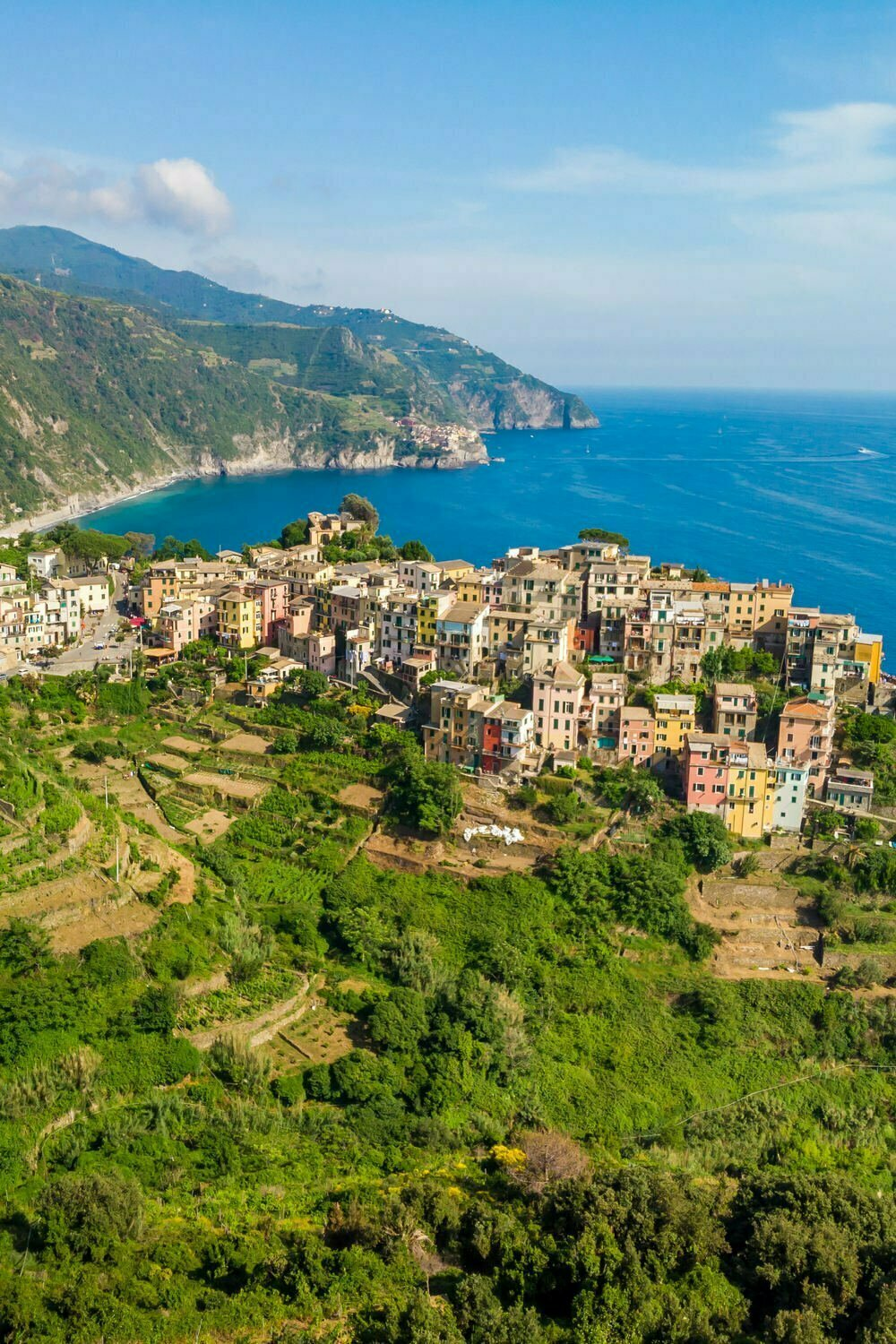 Best Hikes in Cinque Terre - The High Path Trail No 1 Aerial View of Corniglia
