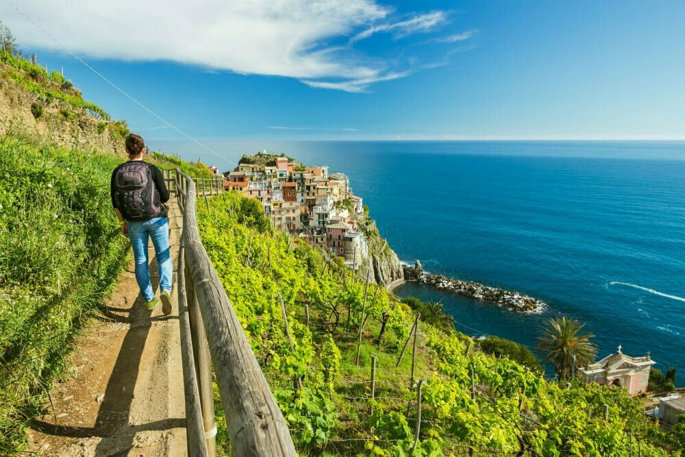 Manarola to Corniglia Hike on the Blue Trail Sentiero Azzurro in Cinque Terre Best Hikes