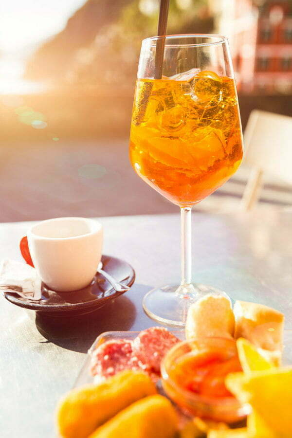 Best Drink in Cinque Terre Restaurants - Aperol Spritz