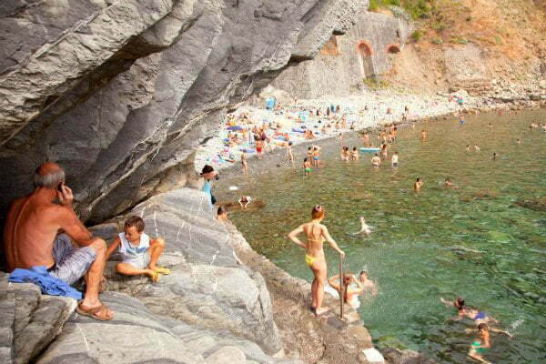 Hidden Beach in Riomaggiore Cinque Terre Beaches