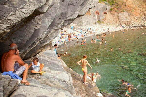 Hidden Beach in Riomaggiore Cinque Terre Beaches