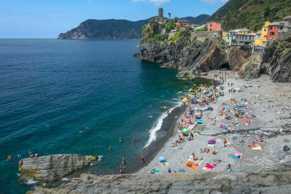 Hidden Vernazza Beach in Cinque Terre | Best Beaches in Cinque Terre