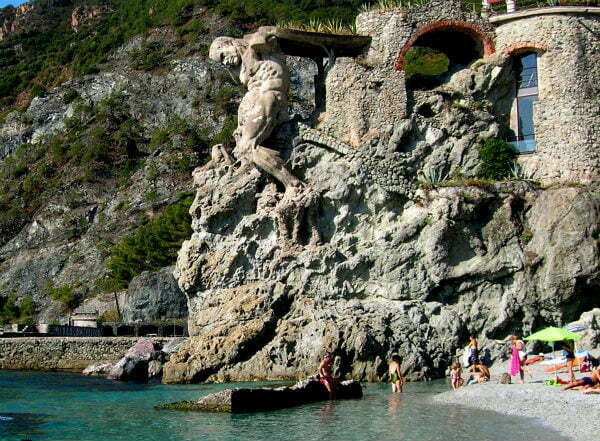 Il Gigante Giant on Monterosso Beach in Cinque Terre Italy | Best Beaches in Cinque Terre
