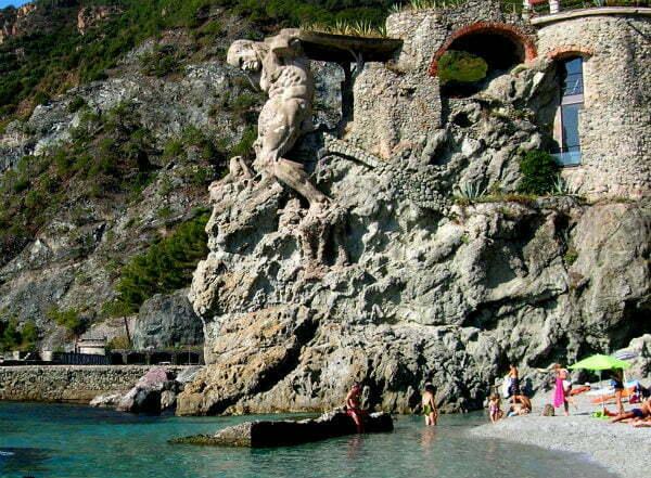 Il Gigante Giant on Monterosso Beach in Cinque Terre Italy | Best Beaches in Cinque Terre