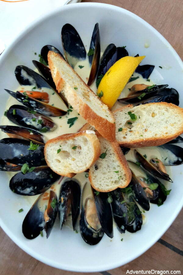 Saffron Mussels at The Reef St Augustine Restaurant on the Water