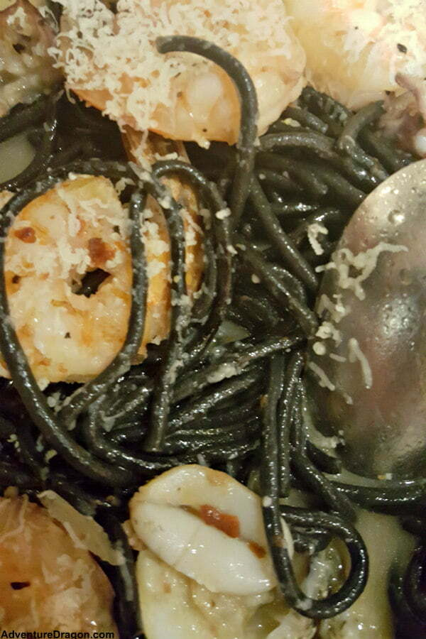 Best Universal CityWalk Orlando Restaurants - Vivo Italian Kitchen Squid Ink Seafood Black Noodles