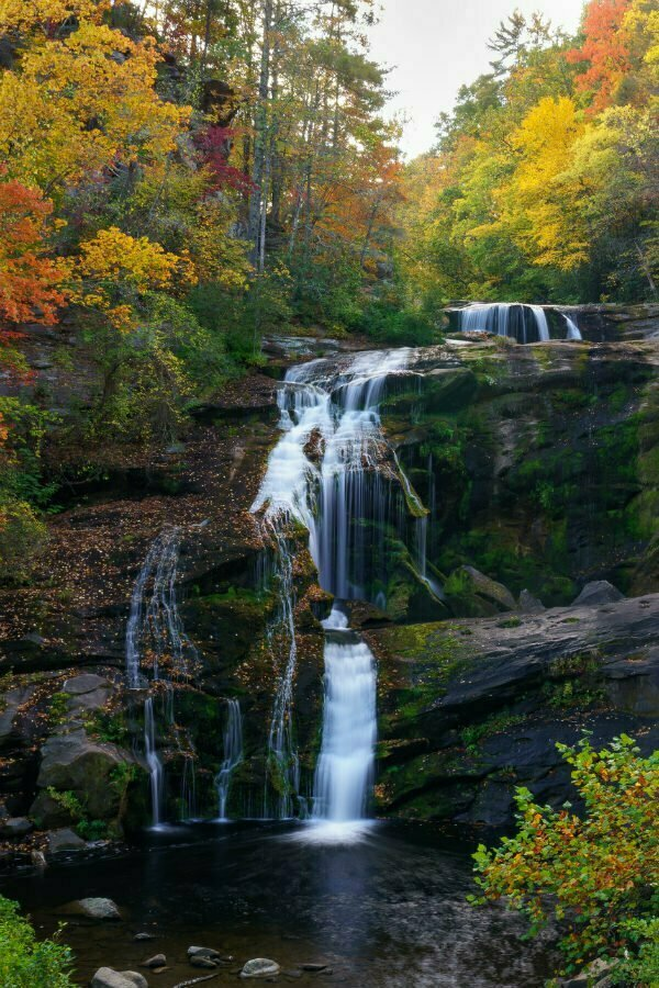 Fall in Tennessee in the Cherokee National Forest - Bald River Falls in Tellico Plains TN