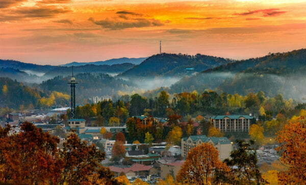 Gatlinburg Tennessee in the Fall