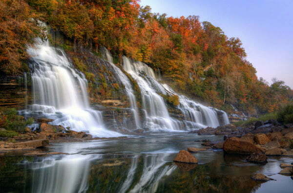 Fall in Tennessee at Rock Island State Park Twin Falls
