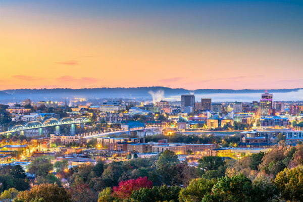 Chattanooga Tennessee in Fall